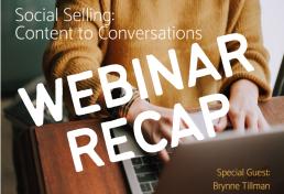 Brynne Tillman webinar RECAP social selling