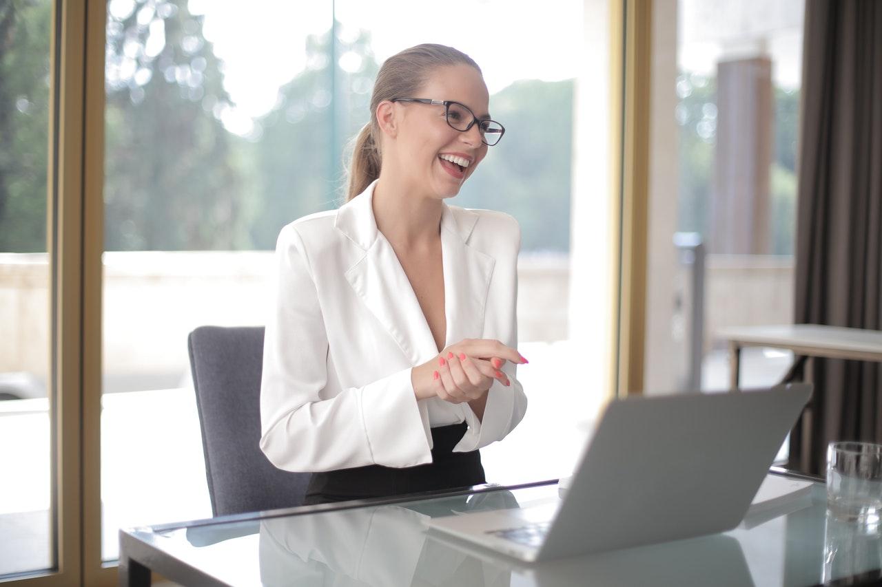 woman at laptop preparedness call preparation