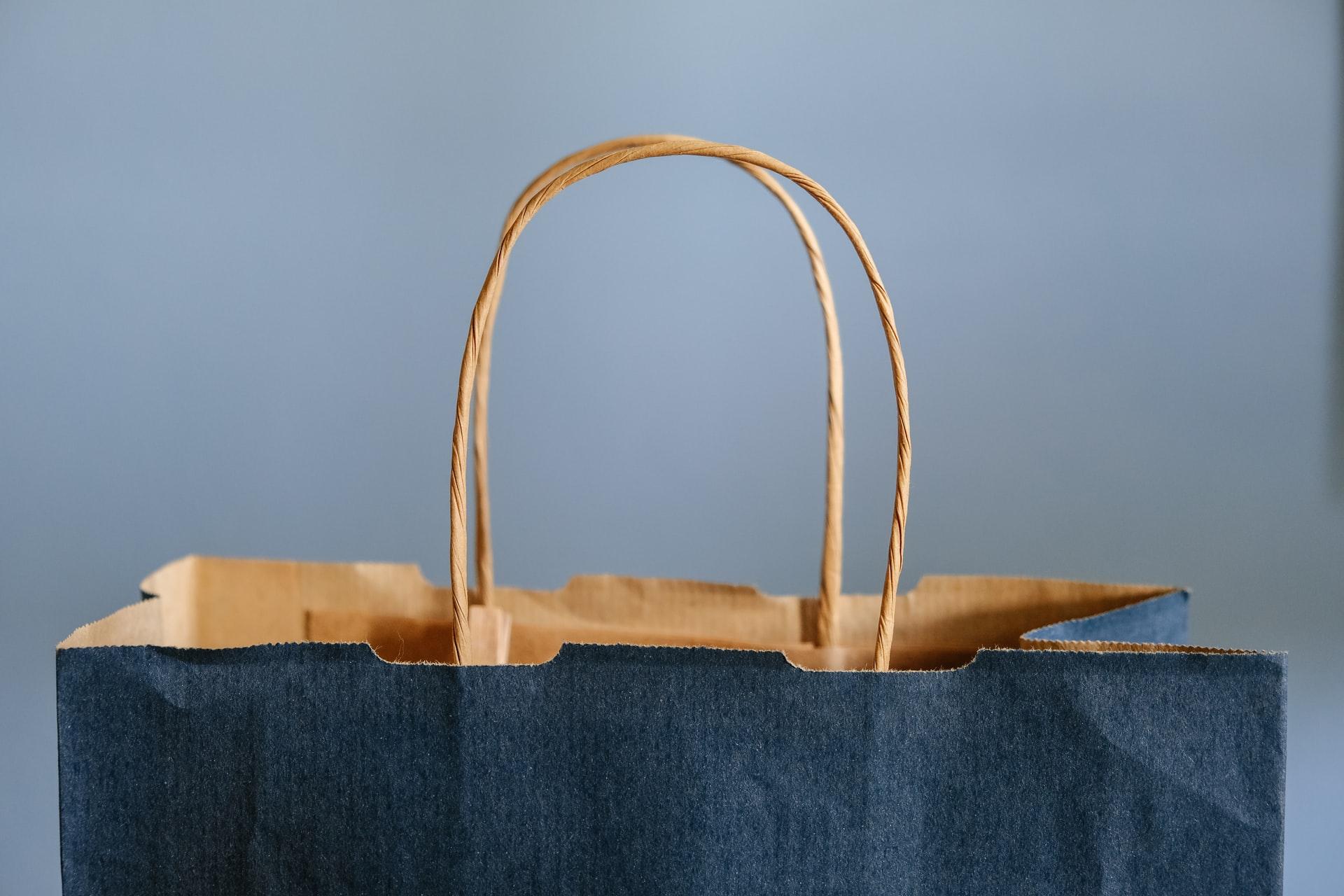 retail rebound; shopping bag