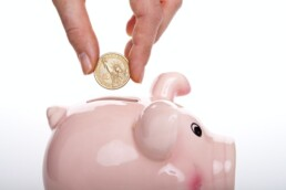 wealth management and investments piggy bank